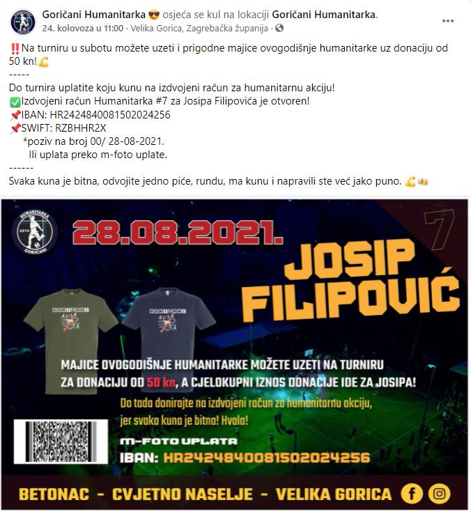 goričani humanitarka josip filipović